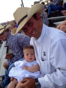 Braxton and Kurt hanging out at the rodeo :)